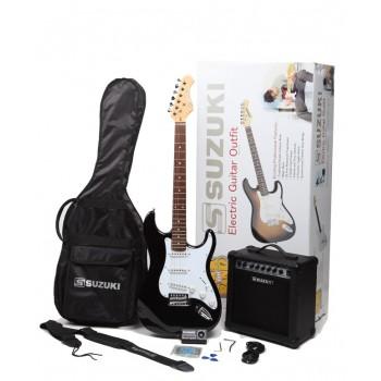 Suzuki SST1BKPK - Elektro Gitar Seti (Siyah)