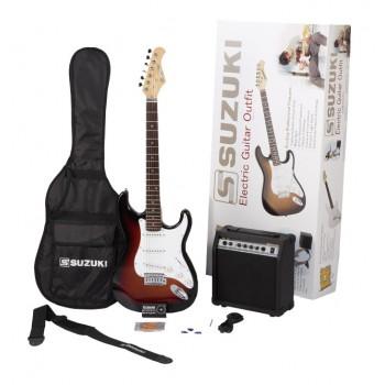Suzuki SST1SBPK - Elektro Gitar Seti (Sunburst)