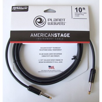 PLANETWAVES PWAMSG10 AMERICAN STAGE INST CABLE-10  ÇİN