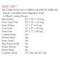 MAXTONE MXC-3017FBK DAVUL SET 5 PCS SİYAH + ZİL + TABURE