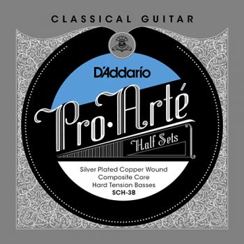 D´Addario SCH-3B Composite Core Klasik Gitar Bass Set