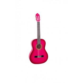 Valencia VC154PKS 4/4 Pembe Klasik Gitar