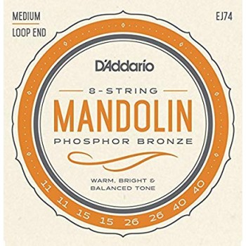 MANDOLIN TEL SET, FOSFOR BRONZ SARIM, MEDIUM, 4 Çİ