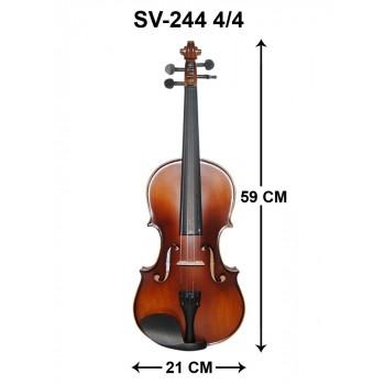 Swing SV244 Mat Cila 4/4 Keman BÜYÜK BOY KELEBEK HARELİ